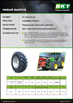 Шины BKT Agrimax Force
